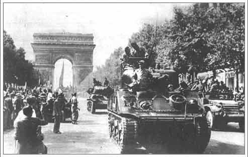 La Nueve entra en París