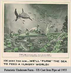 Futuristic Undersea Farm as seen in 1955)