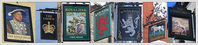 Heraldry pub signs