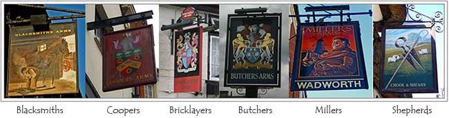 Trade pub signs