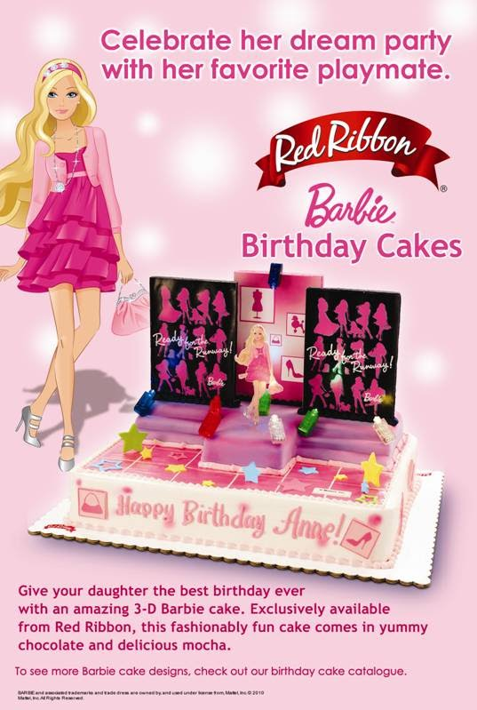 Mabuhay 3D Barbie Cake Only from Red Ribbon