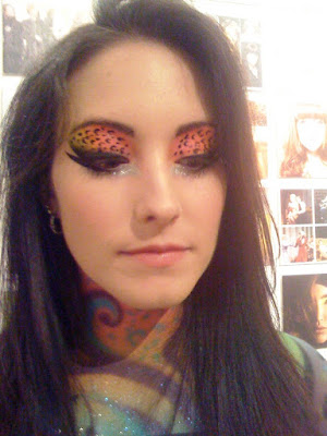 animal print makeup. Leopard print eyes look