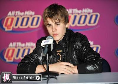 Justin Bieber,American  singer, Tour Bus Stuffer