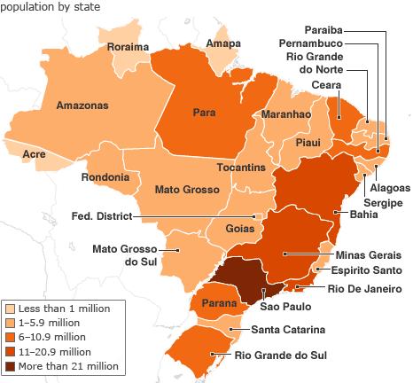 Brazil Map Population