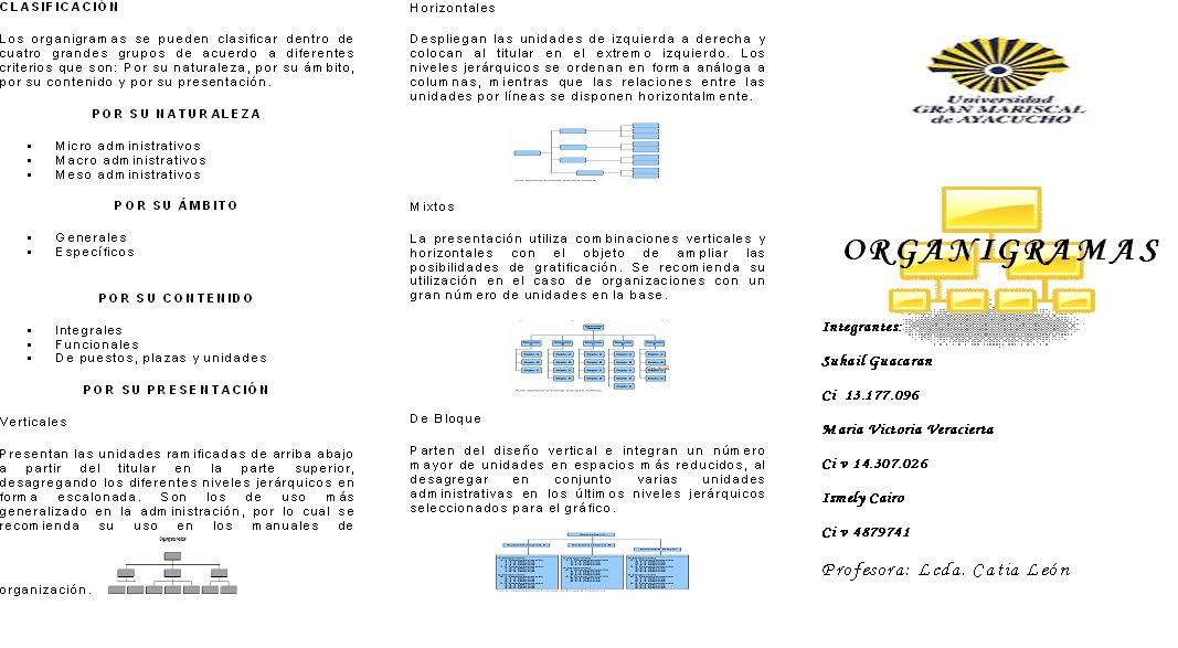 tipos de organigramas