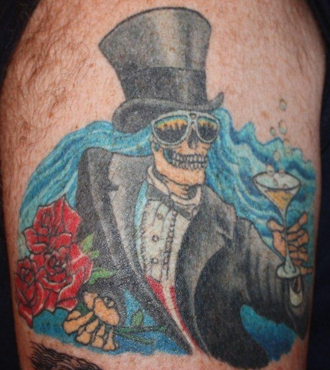 grateful dead tattoo by The Family Dog drop dead gorgeous Michael. Bertha is a classic Grateful Dead image, as easily recognized as the Steal