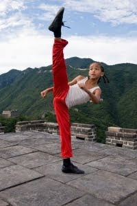 Jaden Smith as the Karate Kid