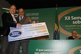 Peterson Azevedo, na premiação em Brasília-DF.