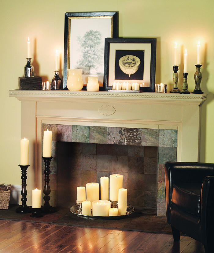 Candle Fireplaces On Pinterest Fireplaces Faux