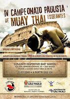 Campeonato paulista de Muay Thai estreantes