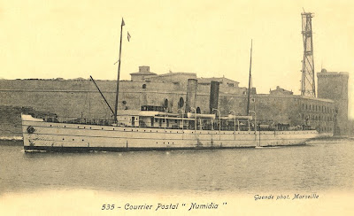 Adhemar numidia paquebot postal de la compagnie fraissinet - Bastia marseille bateau ...