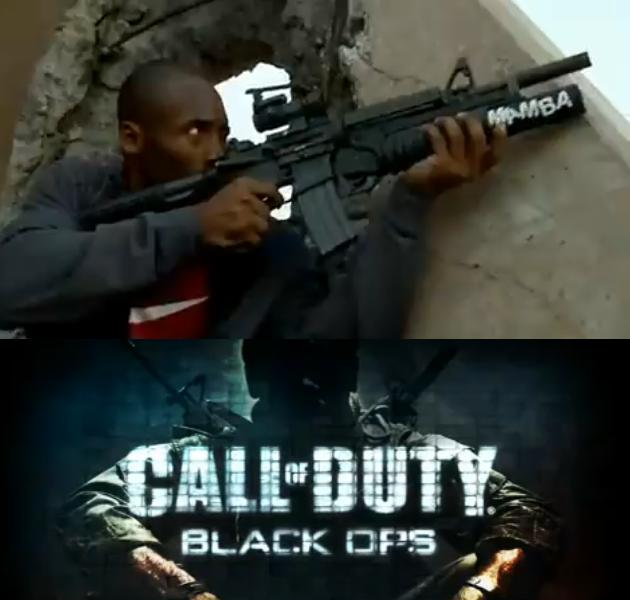 "Kobe Bryant, Jimmy Kimmel in ""Call of Duty Black Ops"" Commercial!"