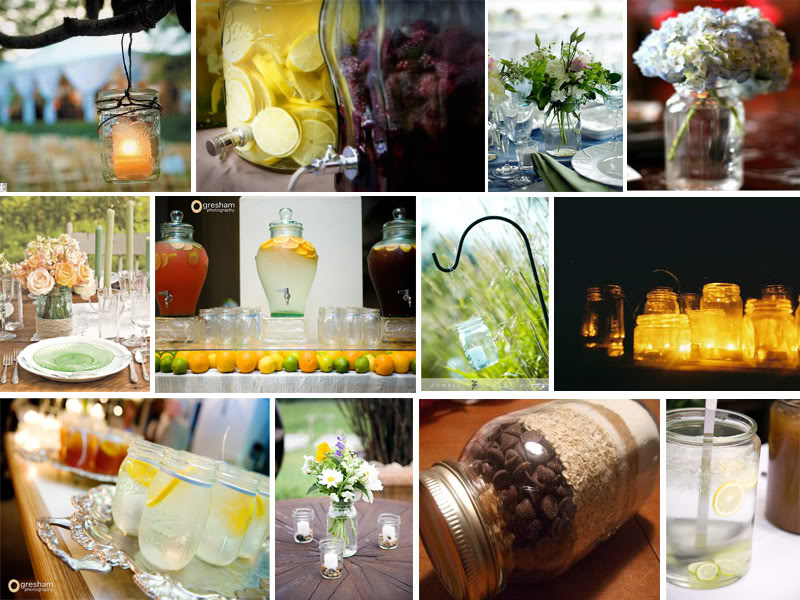 Mason Jar Wedding Decoration Ideas