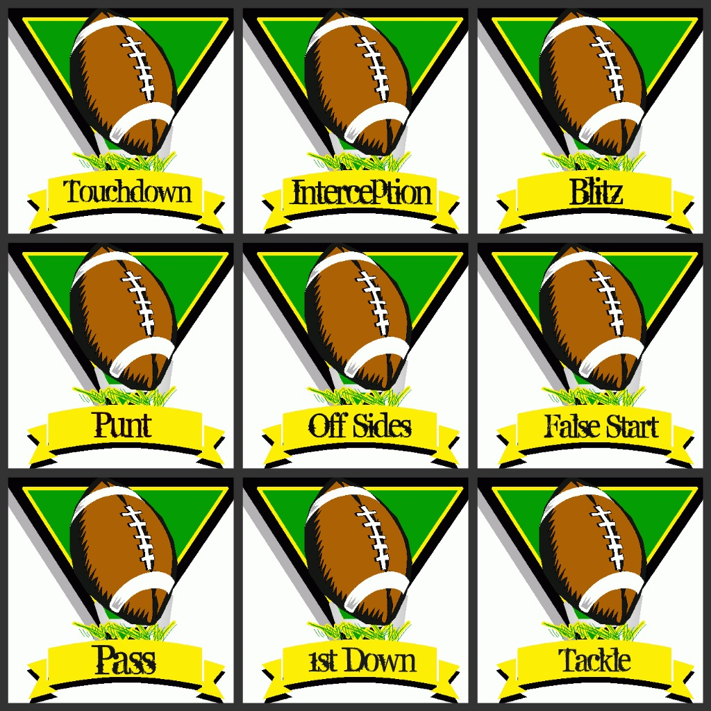 This is a picture of Sizzling Free Football Printables