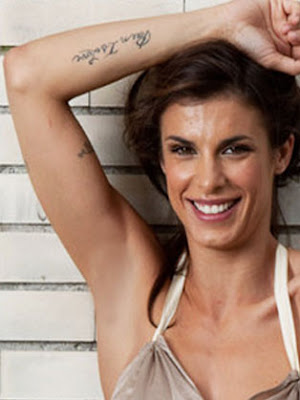 Elisabetta Canalis lettering tattoo designs