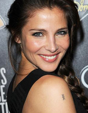 Elsa Pataky Shoulder And Belly Tattoo Design