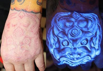 Tattoos design ultra violet tattoos make a glowing impact for Invisible ink tattoo removal price