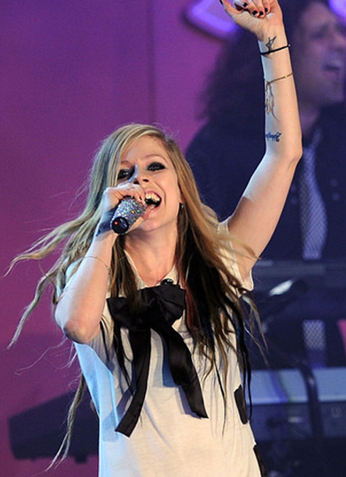 Avril lavigne tattoo on her wrist