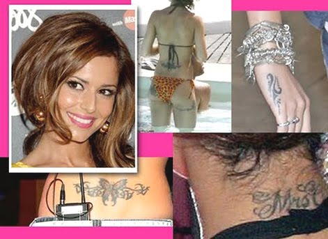 cheryl cole tattoos. celebrity cheryl cole tattoo