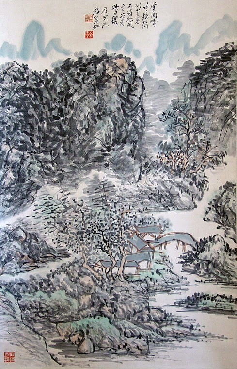 Landscape Scroll Painting by Huang Binhong