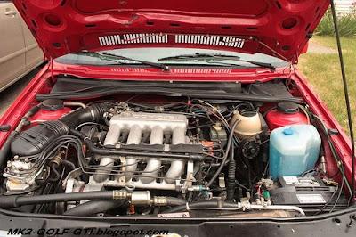 red MK2 GOLF GTI