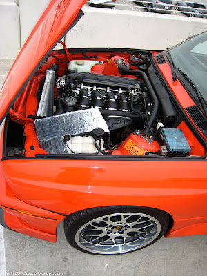 Very nice red BMW E30 M3 with very hot girl