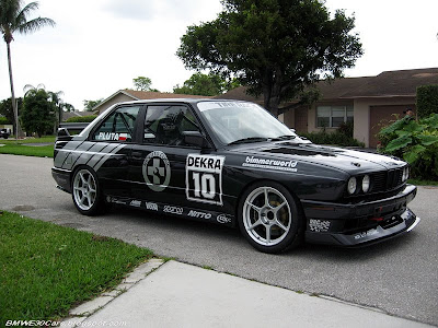 and this Black BMW E30 M3 have got some Silver graphics logos too