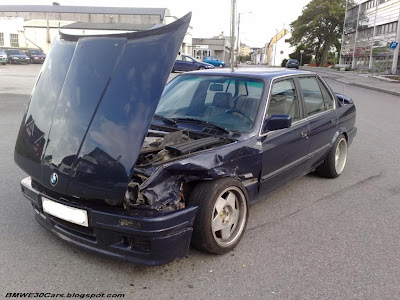 E30 325i accident