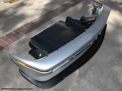 E30 carbon front splitter