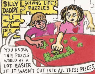 Silly Daddy Solving Life's Puzzles - webcomic by Joe Chiappetta