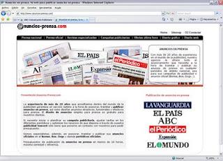 Anuncios en prensa