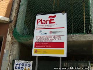 Valla publicitaria Plan E