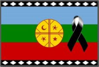En repudio a la represión del estado chileno al Pueblo Mapuche.