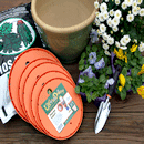 Ups-A-Daisy container gardening inserts with soil and flowers