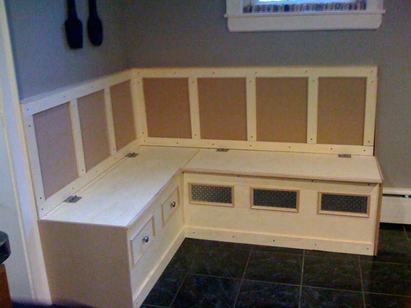 Kitchen Breakfast Nook with Storage Bench