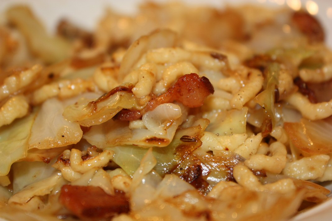Haluski with Spaetzle