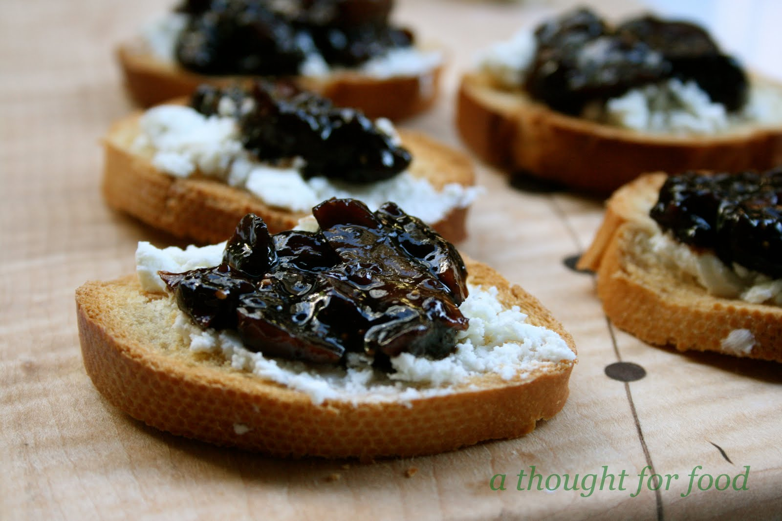 Recipe: Fig and Balsamic Jam and Goat Cheese Crostini » A Thought For ...