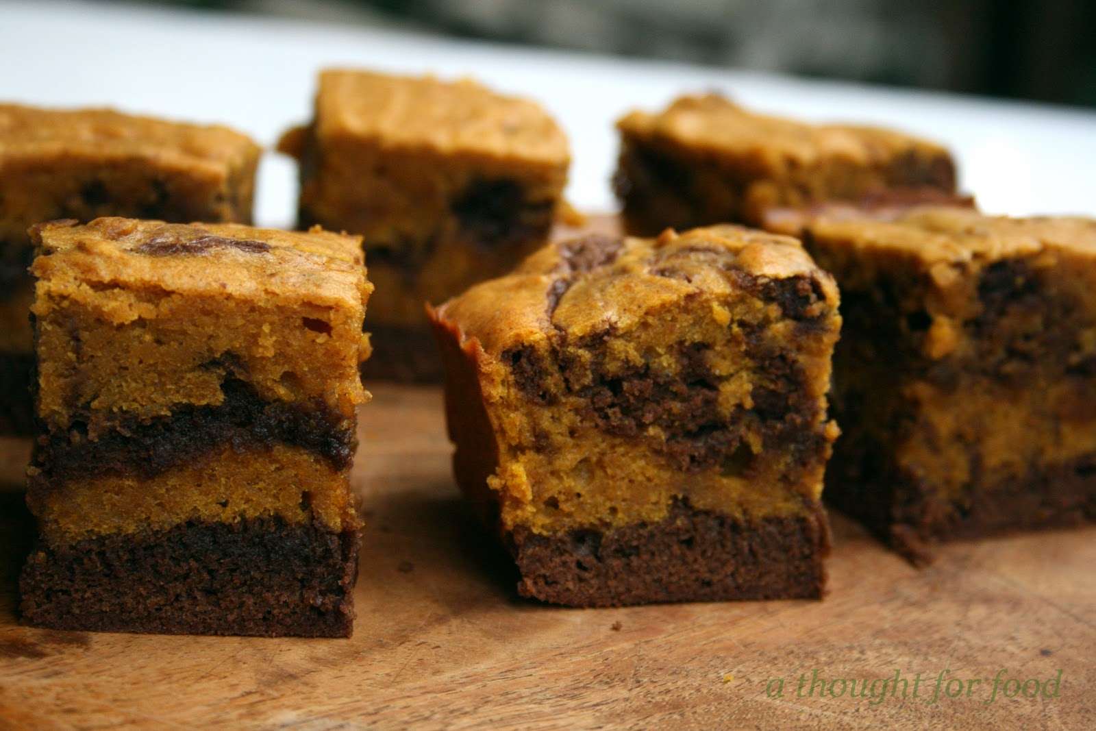 Thanksgiving Recipe: Pumpkin-Swirl Brownies » A Thought For Food