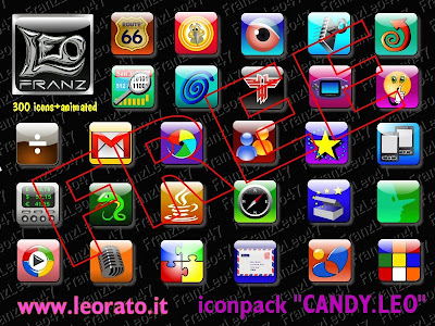 Candy Leo Svg Icon Pack