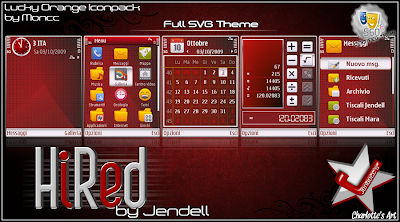 HiRed by Jendell Nokia mobile theme