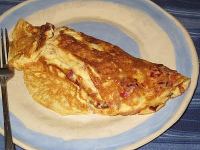 Cooking without a Net: Swiss Chard and Gruyere Omelette