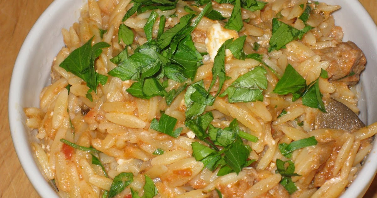 Orzo With Eggplant And Tomatoes Test Kitchen