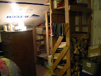 The composting loo and surrounding storage unit
