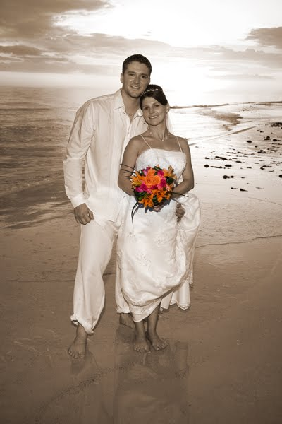 black and white photos with color accents. Like with this Sepia Color
