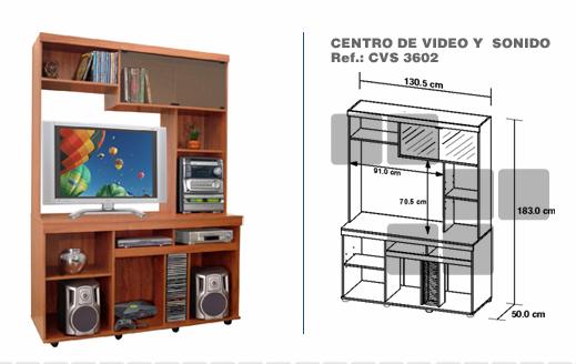 muebles modulares interdesign centro de entretenimiento 3602 $350000