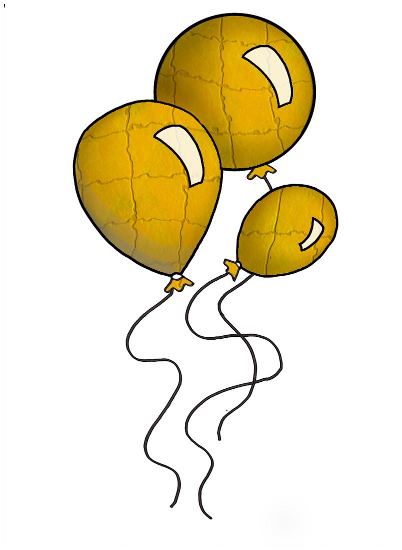 clipart yellow balloons - photo #47
