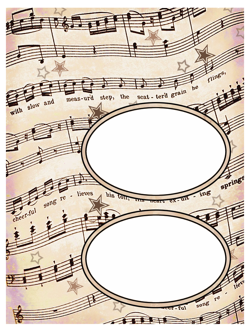 photo relating to Printable Sheet Music for Crafts named ArtbyJean - Paper Crafts: Established 003 - Basic Sheet New music Absolutely free