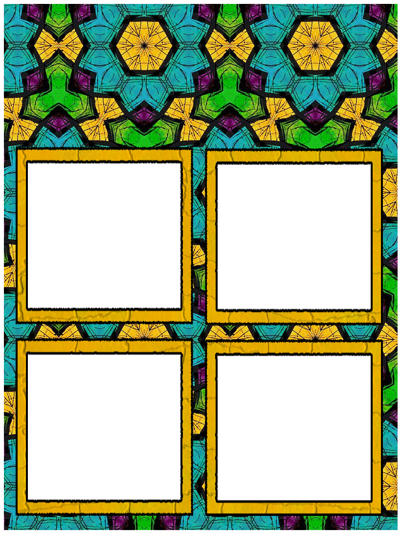 ArtbyJean - Paper Crafts: Set A37 - Turquoise and Golden Yellow ...