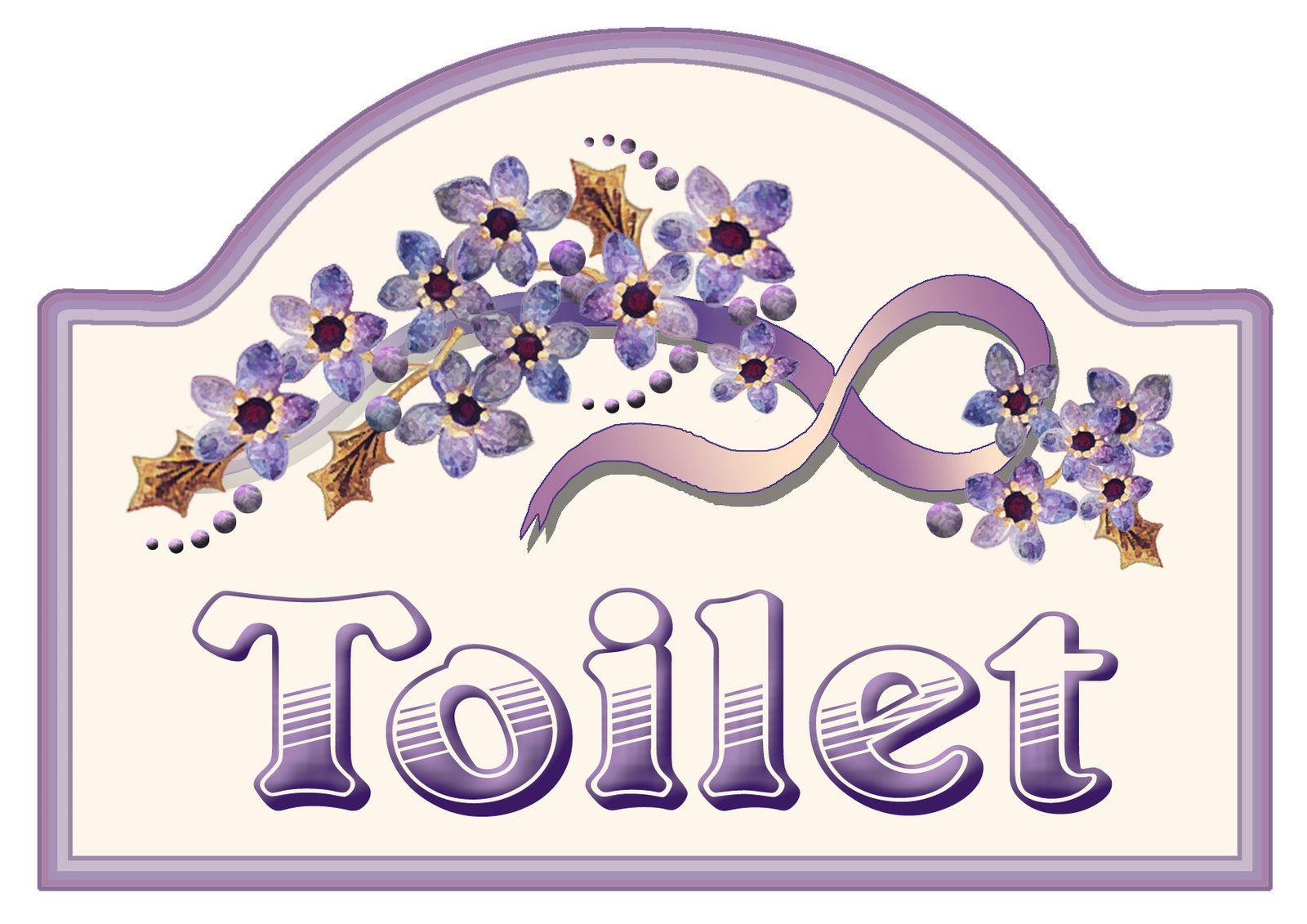 Artbyjean Purple Wood Roses Make A Sign For Your Toilet