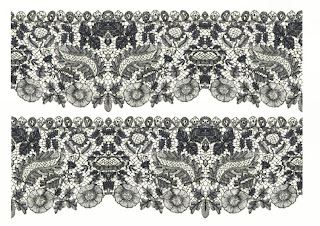 Delicate Fabric With Symmetrical Patterns